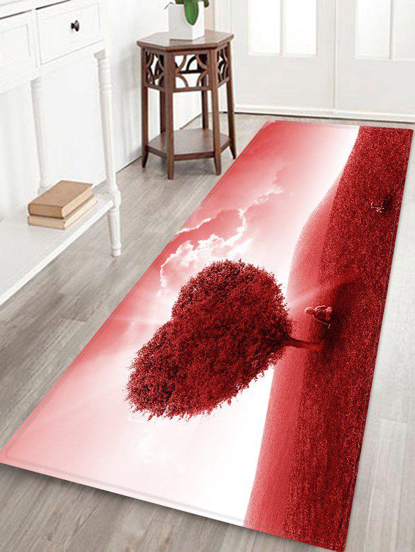 Latest Love Heart Tree Pattern Floor Rug