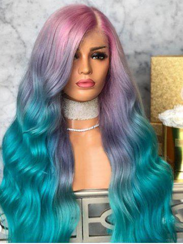 Ombre Long Side Part Synthetic Wavy Wig