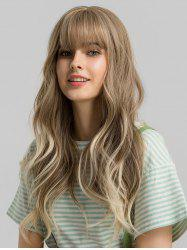 Neat Bang Long Big Wave Synthetic Wig -