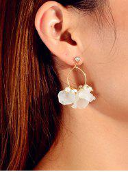 Floral Faux Pearl Circle Drop Earrings -
