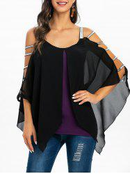Layered Sweetheart Neck Asymmetric T Shirt -