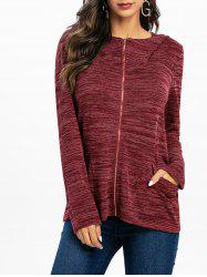 Marble Knitted Hooded Jacket -