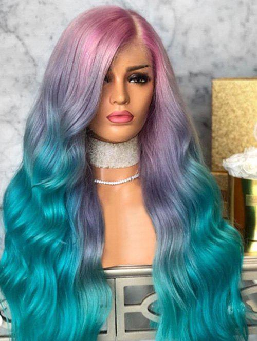 New Ombre Long Side Part Synthetic Wavy Wig