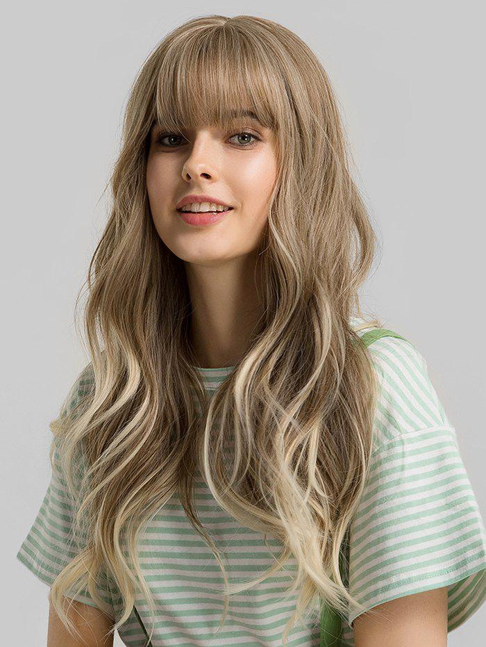 Buy Neat Bang Long Big Wave Synthetic Wig