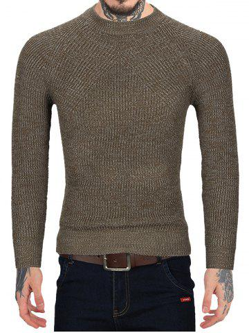 Brief Style Round Neck Sweater