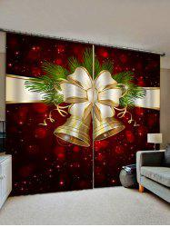 Christmas Bell Pattern Window Curtains -