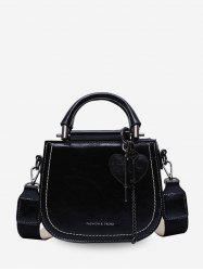 Heart Shape Key Decorate Solid Shoulder Bag -