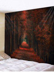 Maple Leaf Forest Pattern Tapestry -