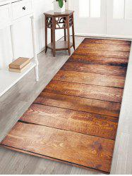 Non-Slip Quick Dry Plank Pattern Floor Pad Rug -
