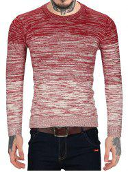 Ombre Print Casual Round Neck Sweater -
