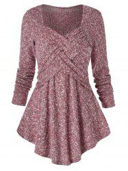 Sweetheart Collar Space Dye Tunic Sweater -