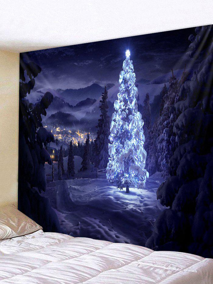 Shops Christmas Tree Snow Pattern Tapestry