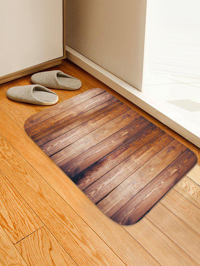 Affordable Non-Slip Quick Dry Plank Pattern Floor Pad Rug