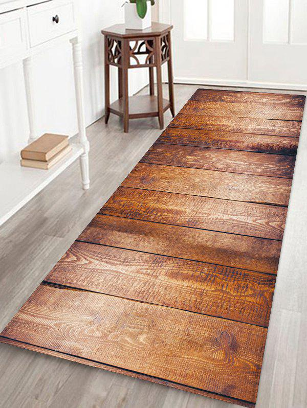 Hot Non-Slip Quick Dry Plank Pattern Floor Pad Rug