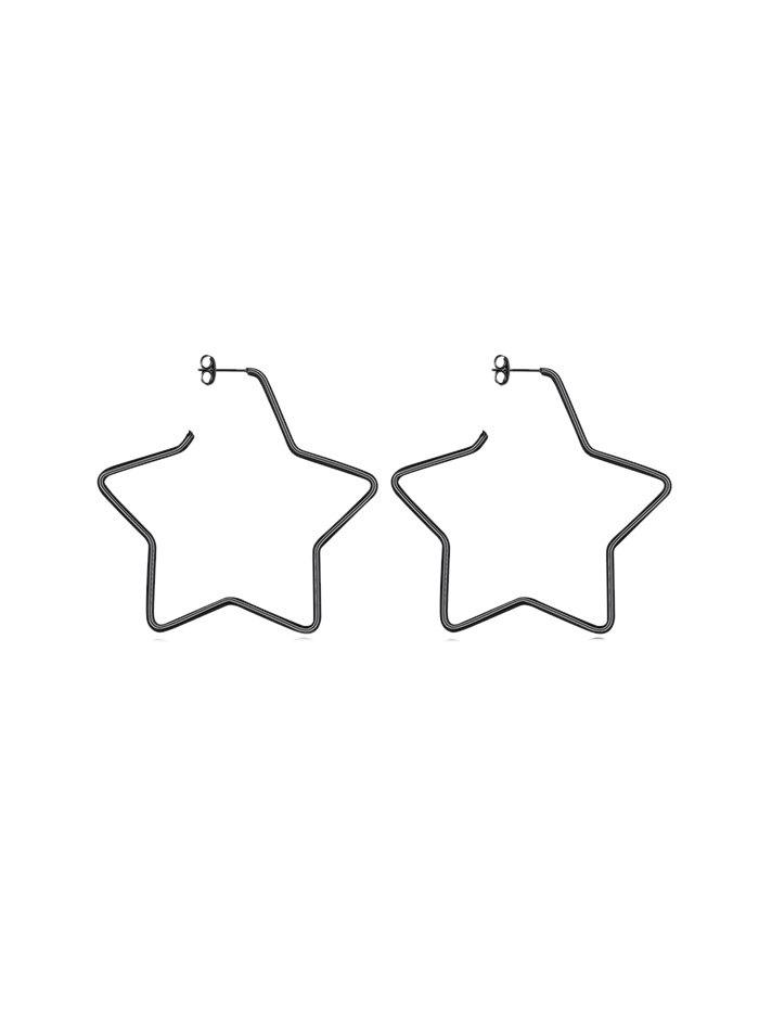 Unique Heart Round Star Big Stud Earrings
