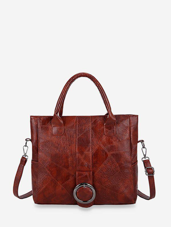 Fancy Casual Geometric Buckle Shoulder Handbag