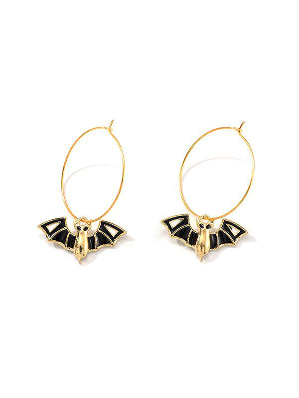 Chic Halloween Bat Hoop Earrings