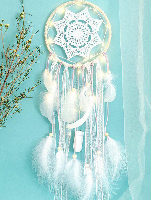 Shops Light Dream Catcher Crochet Hanging Decoration