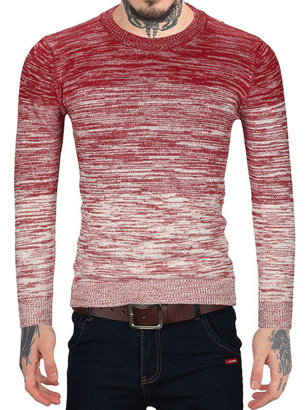 Online Ombre Print Casual Round Neck Sweater