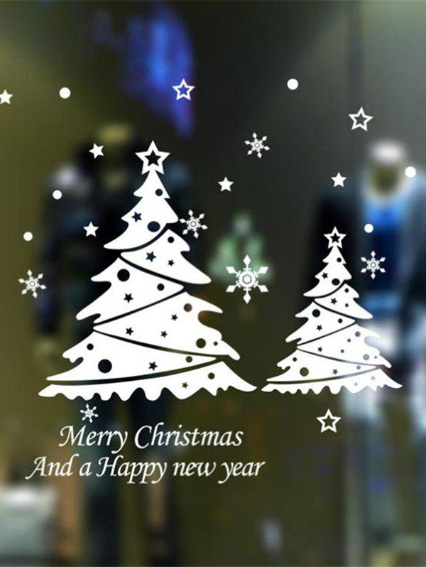 Outfits Merry Christmas Tree Pattern Wall Sticker Set