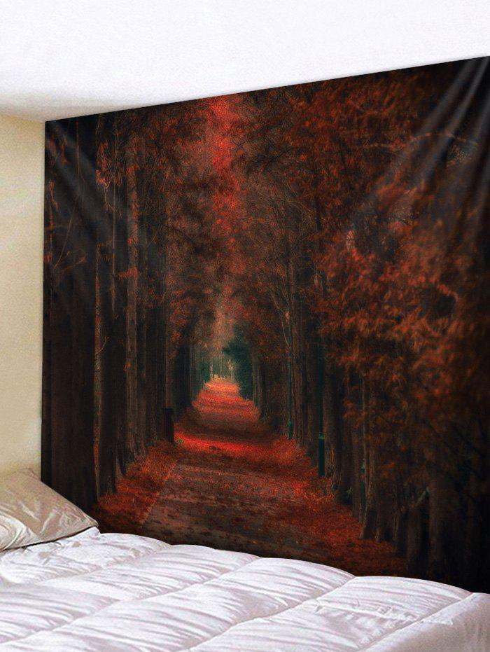 Sale Maple Leaf Forest Pattern Tapestry