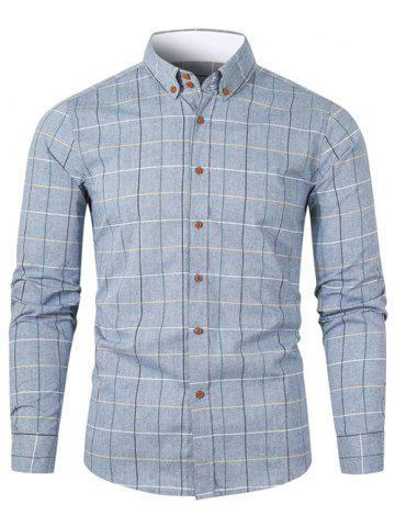 Checked Long-sleeved Button Up Shirt