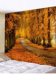 Maple Forest Road Print Tapestry Wall Hanging Art Decoration -