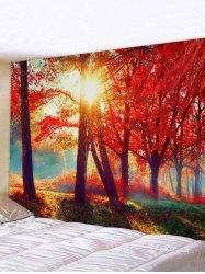 Maple Tree Forest 3D Print Wall Tapestry -