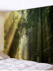 Fog Forest 3D Print Wall Hanging Tapestry -