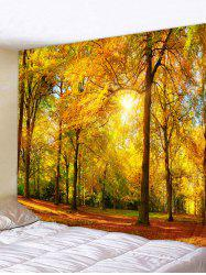 Sunlight Maple Forest Print Tapestry Wall Hanging Art Decoration -