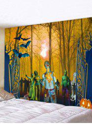 Halloween Forest Zombie Print Tapestry Wall Hanging Art Decoration -