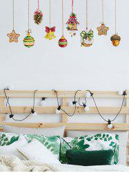 Christmas Hanging Decorations Print Wall Art Stickers -