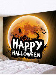 Digital Printing Moon Halloween Waterproof Tapestry -