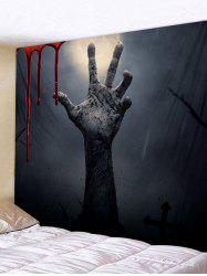 Halloween Hell Hand Blood Tapestry -