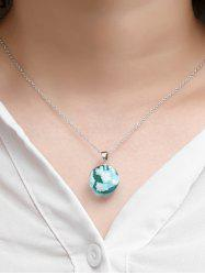 Round Pendant Sky Clouds Necklace -
