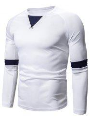 Casual Color Spliced Full Sleeves T-shirt -