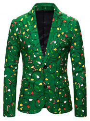 Christmas Tree Candy Single Breasted Casual Blazer -