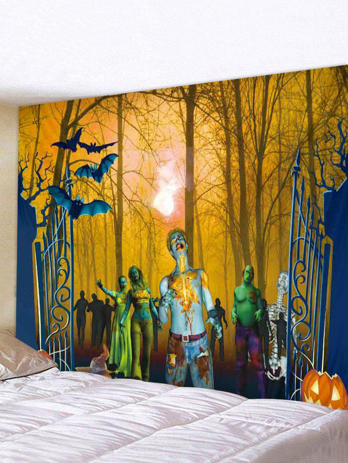 Halloween Forest Zombie Print Tapestry Wall Hanging Art Decoration фото