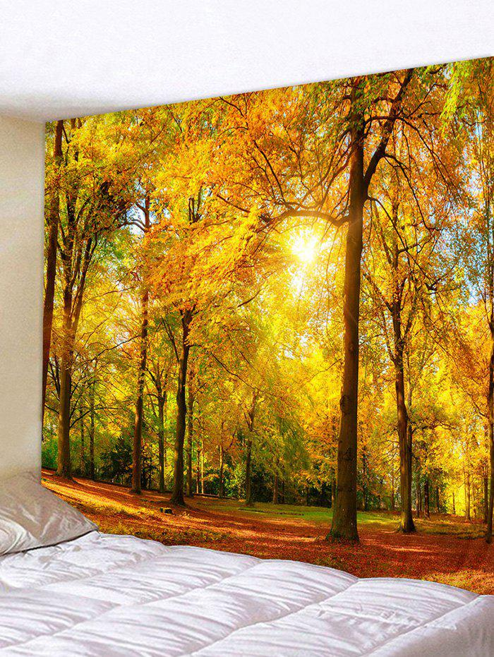 Latest Sunlight Maple Forest Print Tapestry Wall Hanging Art Decoration