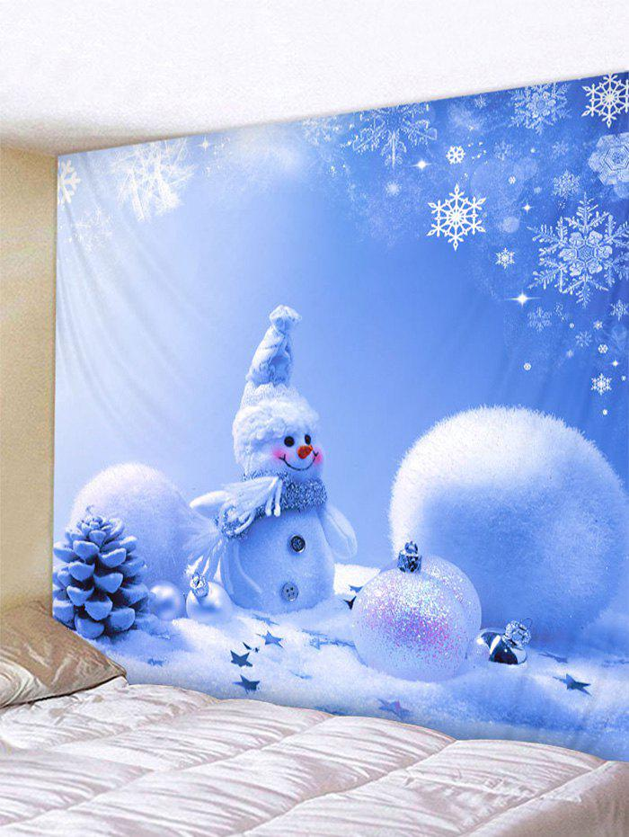 Affordable Christmas Snowman Printed Wall Hanging Tapestry