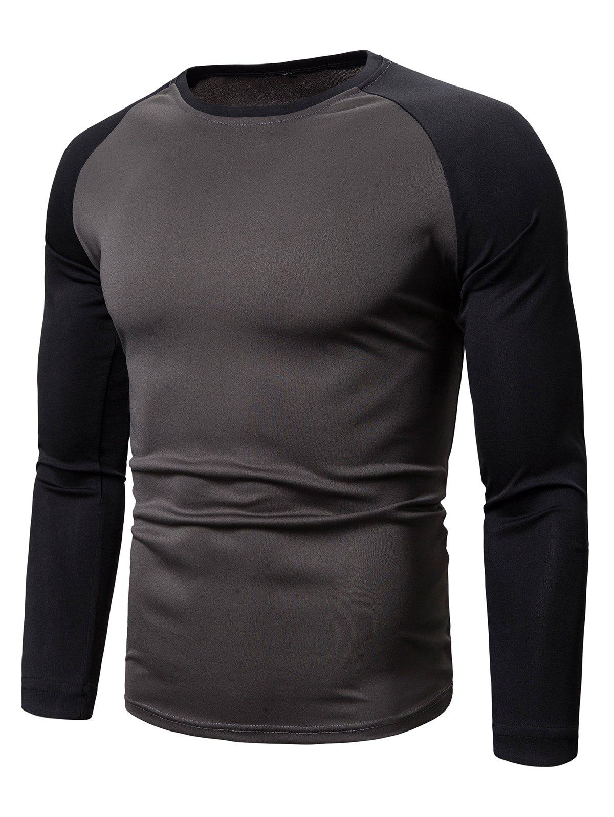 Outfits Color Spliced Full Sleeves Casual T-shirt