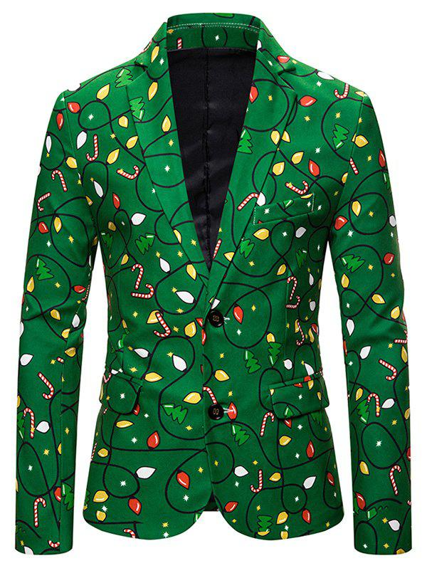 Best Christmas Tree Candy Single Breasted Casual Blazer