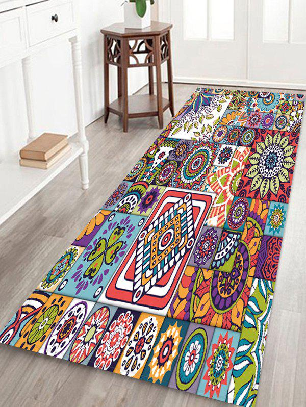 Outfit Bohemia Style Geometric Print Flannel Floor Mat