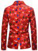 Christmas Stocking Tree Candy Single Breasted Casual Blazer -