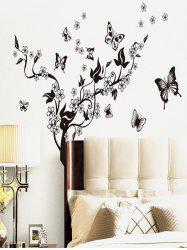 Flower Butterfly Tree Pattern Wall Sticker Set -