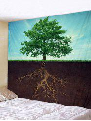 Tree and Root Print Tapestry Wall Hanging Art Decoration -
