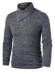 Heathered Quarter Zip Pullover Sweater -