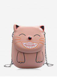 Chain Smile Cat Pattern Crossbody Bag -