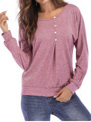 Mock Button Raglan Sleeve Sweatshirt -