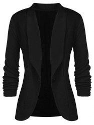 Plus Size Bouton simple Blazer à col châle -